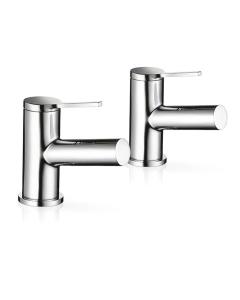Mira Evole Bathroom Basin Pillar Taps 2.1816.002