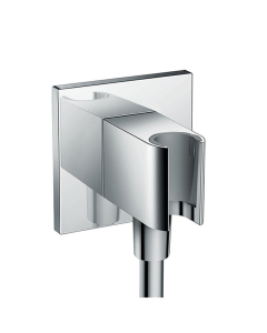 Hansgrohe Fixfit Wall Outlet Square With Shower Holder - 26486000 26486000