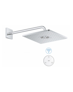 Grohe SmartConnect Wireless RainShower 310 Cube Shower Head & Arm with Remote - 26642000 26642000