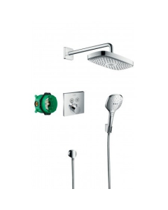 Hansgrohe Raindance Select E Shower System With Showerselect Thermostatic Mixer For Concealed Installation - 27296000 27296000
