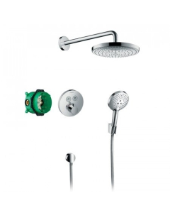Hansgrohe Raindance Select S Shower System With Showerselect S Thermostatic Mixer For Concealed Installation - 27297000 27297000