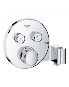 Grohe Grohtherm SmartControl Thermostat for Concealed Installation 2 Valves Round with Integrated Shower Holder - Chrome 29120000 29120000