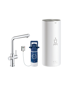 GROHE RED Duo L Boiling Hot Water Kitchen Tap L-Spout Chrome - 30340001 30340001