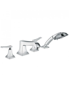 HANSGROHE METROPOL CLASSIC 4-HOLE RIM-MOUNTED BATH MIXER WITH LEVER HANDLE - 31441000 31441000