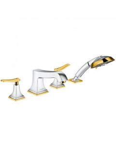 HANSGROHE METROPOL CLASSIC 4-HOLE RIM-MOUNTED BATH MIXER WITH LEVER HANDLE - 31441090 31441090