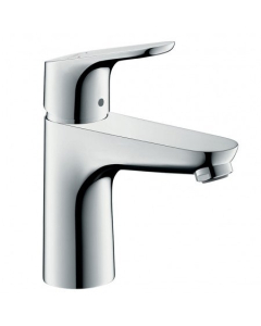 HANSGROHE FOCUS SINGLE LEVER BASIN MIXER 100 WITH 2 FLOW RATES AND POP-UP WASTE - 31657000 31657000