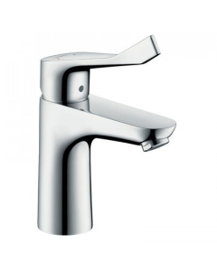 HANSGROHE FOCUS SINGLE LEVER BASIN MIXER 100 WITH EXTRA LONG HANDLE AND POP-UP WASTE - 31911000 31911000