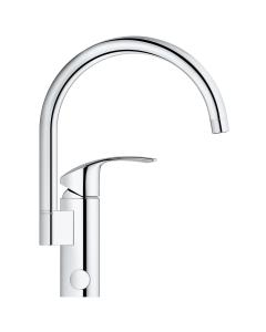 GROHE Eurosmart New kitchen tap, high spout, 0°/150°/360° swivel range, GROHE StarLight® 33202002