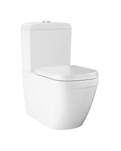Grohe Euro Rimless Close Coupled Toilet with Soft Close Seat (Bottom Inlet) - 39462000 39462000