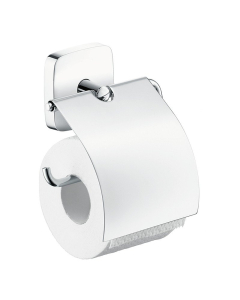 HANSGROHE PURAVIDA TOILET ROLL HOLDER WITH COVER - 41508000 41508000