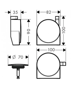 HANSGROHE EXAFILL S FINISH SET BATH FILLER, WASTE AND OVERFLOW SET - 58117130 58117130