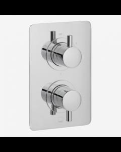 Vado Celsius 3 Outlet, 2 Handle Thermostatic Valve - Cel-148D/3/Sq-C/P VADO1931
