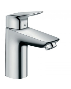 HANSGROHE LOGIS SINGLE LEVER BASIN MIXER 100 LOWFLOW 3.5 L/MIN WITH POP-UP WASTE - 71104000 71104000