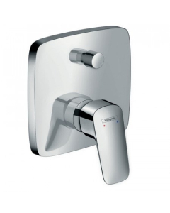 Hansgrohe Logis Single Lever Manual Bath Mixer Tap For Concealed Installation With Integrated Backflow Prevention - 71407000 71407000