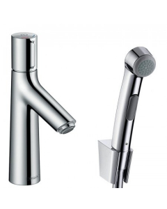 HANSGROHE TALIS SELECT S BASIN MIXER 100 WITH BIDET SPRAY AND SHOWER HOSE 160 CM - 72291000 72291000