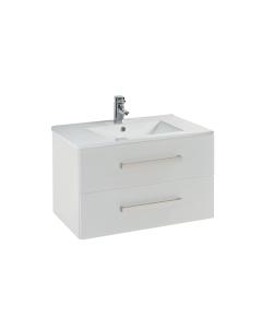 Aquatrend 760mm 2 Drawer Wall-Hung Vanity Unit In Gloss White - CV29296/000-CV813 CV29296/000-CV813