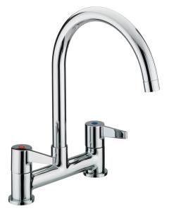 Bristan Design Utility Lever Deck Sink Mixer Chrome - DUL DSM C DUL DSM C