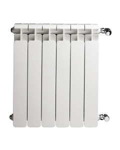 Faral Alba 95 Aluminium Radiator 580mm H x 480mm W 6 Sections White ALBA580-6