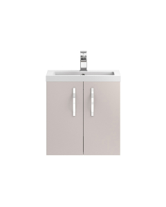 Hudson Reed Apollo Cashmere Wall Hung 500 Cabinet & Basin - APL734 APL734