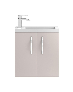 Hudson Reed Apollo Compact Cashmere Wall Hung 500 Cabinet & Basin - APL734C APL734C
