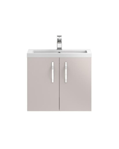 Hudson Reed Apollo Cashmere Wall Hung 600 Cabinet & Basin - APL736 APL736