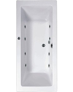 Aquaestil 1900x900mm Plane Double Ended Whirlpool Bath With 8 Jets AL10001