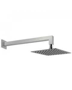 """Vado Aquablade 200Mm (8"""") Square Easy Clean Slimline Shower Head With Shower Arm - Aqb-Sq/20/Sa/A-C/P VADO1285"""