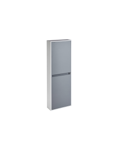 Aquanatural Tall Wall Unit with Solid Surface Panels In Modern Oak - CV29216/260 CV29216/260