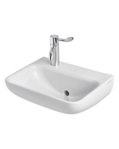 Armitage Shanks Contour 21 Plus Basin with Back Outlet 500mm Wide - 1 LH Tap Hole AS10063