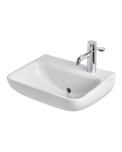Armitage Shanks Contour 21 Plus Basin with Back Outlet 500mm Wide - 1 RH Tap Hole AS10064