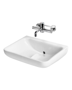 Armitage Shanks Contour 21 Plus Basin with Back Outlet 600mm Wide - 0 Tap Hole AS10082