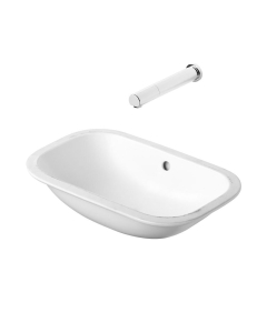 Armitage Shanks Contour 21 Under Countertop Basin with Glazed Back 555mm Wide - 0 Tap Hole AS10069