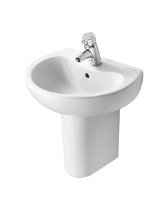 Armitage Shanks Contour 21 Basin with Semi Pedestal 500mm Wide - 1 Tap Hole AS10070