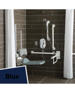Armitage Shanks Contour 21 Shower Room Doc M Pack with Grab Rail - Blue AS10249
