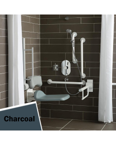 Armitage Shanks Contour 21 Shower Room Doc M Pack with Grab Rail Charcoal - S6960RN AS10250