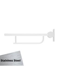 Armitage Shanks Contour 21 Hinged Arm Wall Support Grab Rail 800mm - Stainless Steel AS10237