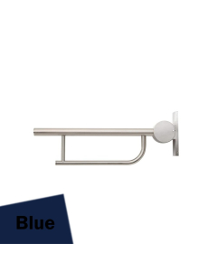 Armitage Shanks Contour 21 Hinged Arm Wall Support Grab Rail 650mm - Blue AS10231