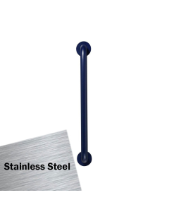 Armitage Shanks Contour 21 Straight Grab Rail 600mm Length - Stainless Steel AS10205