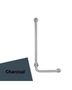 Armitage Shanks Contour 21 Angled Shower Grab Rail 900mm Length - LH Charcoal AS10219