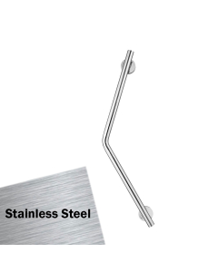 Armitage Shanks Contour 21 Cranked Hand Rail 450mm Length - Stainless Steel AS10236