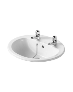 Armitage Shanks Orbit 21 Countertop Basin with Overflow 550mm Wide - 2 Tap Hole AS10057