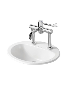 Armitage Shanks Orbit 21 Countertop Basin without Overflow 550mm Wide - 2 Tap Hole AS10054