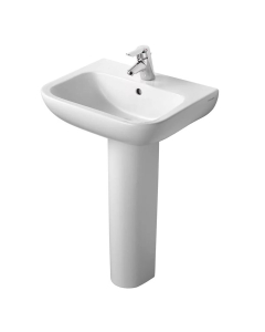 Armitage Shanks Portman 21 Basin with Full Pedestal 550mm Wide - 1 Tap hole AS10066