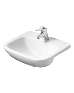 Armitage Shanks Profile 21 Semi Countertop Basin No Overflow 500mm Wide - 1 Tap Hole AS10078