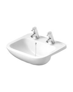 Armitage Shanks Profile 21 Semi Countertop Basin No Overflow 500mm Wide - 2 Tap Hole AS10080