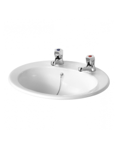 Armitage Shanks Sandringham 21 Inset Countertop Basin 500mm Wide 2 Tap Hole AS10032