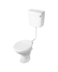 Armitage Shanks Sandringham 21 Low Level Toilet WC Bottom Inlet Cistern - Standard Seat AS10110