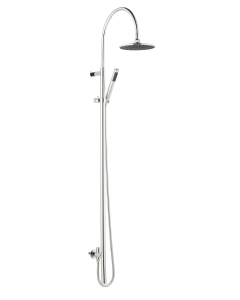 Nuie Multi Option Shower Kits Chrome Contemporary Breeze Deluxe Rigid Riser Kit - AS311 AS311
