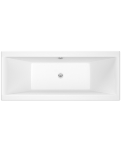 Nuie Asselby White Contemporary Square Double Ended Bath 1700x750 - NBA210 NBA210