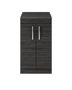 Nuie Athena Hacienda Black Contemporary 500 Floor Standing 2-Door Vanity With Worktop - ATH005W ATH005W